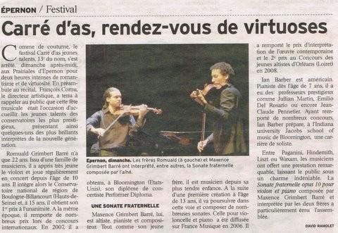 Carré d'As Prairiales 23.01.2011 Echo Républicain.jpg